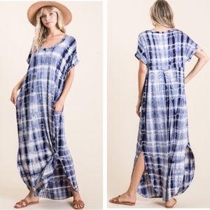 """The Kerri"" Casual Tie Dye Maxi Dress"